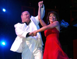 McNally's 1975 play The Ritz - set in a gay bathhouse - was revived on Broadway in 2007, featuring Kevin Chamberlin and Rosie Perez, seen here in their opening night curtain call at Studio 54, New York.