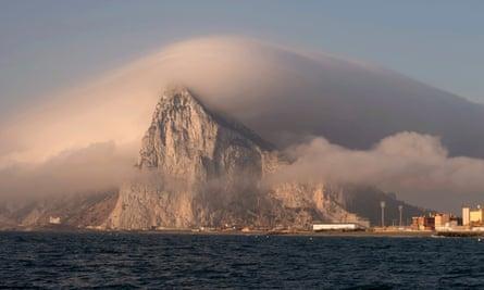 Gibraltar, seen from from La Linea de la Concepcion