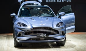 An Aston Martin DBX SUV is on display during the 18th Guangzhou International Automobile Exhibition at China Import and Export Fair Complex on November 20, 2020.