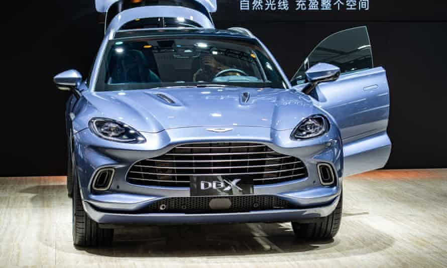 An Aston Martin DBX SUV. The company does not make any electric vehicles.