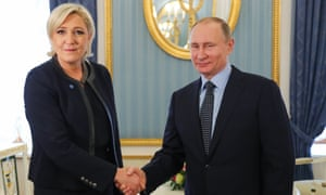 Marine Le Pen meets Vladimir Putin at the Kremlin.