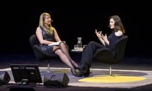 Nigella Lawson with SBS presenter Maeve O'Meara at Sydney Opera House