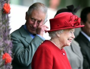 Prince Charles and the Queen at the Highland Games last year.