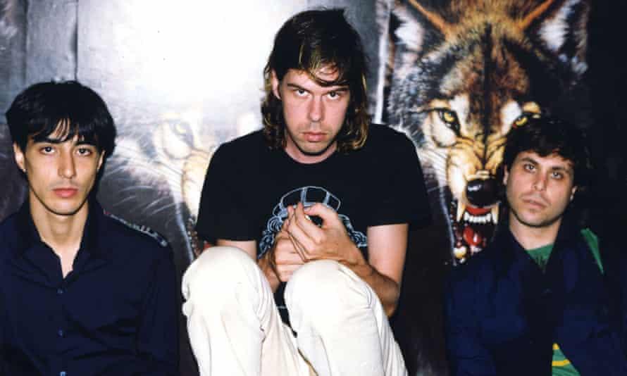 Impish defiance … Aaron Hemphill, Angus Andrew and Julian Gross of Liars in 2004