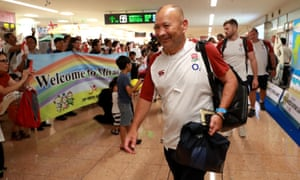Eddie Jones and the England squad arrive in Miyazaki where they will spend the final week before their opening game against Tonga in Sapporo a week on Sunday.