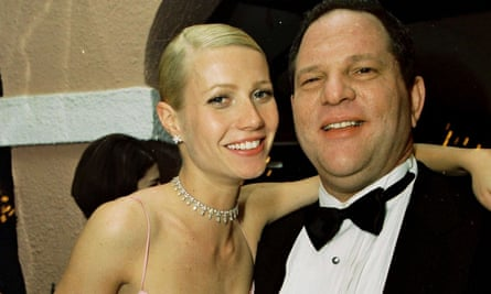 Paltrow and Weinstein at the 1999 Miramax post-Oscars party