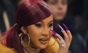 Cardi B attends the 2020 NBA All Star Game at United Center