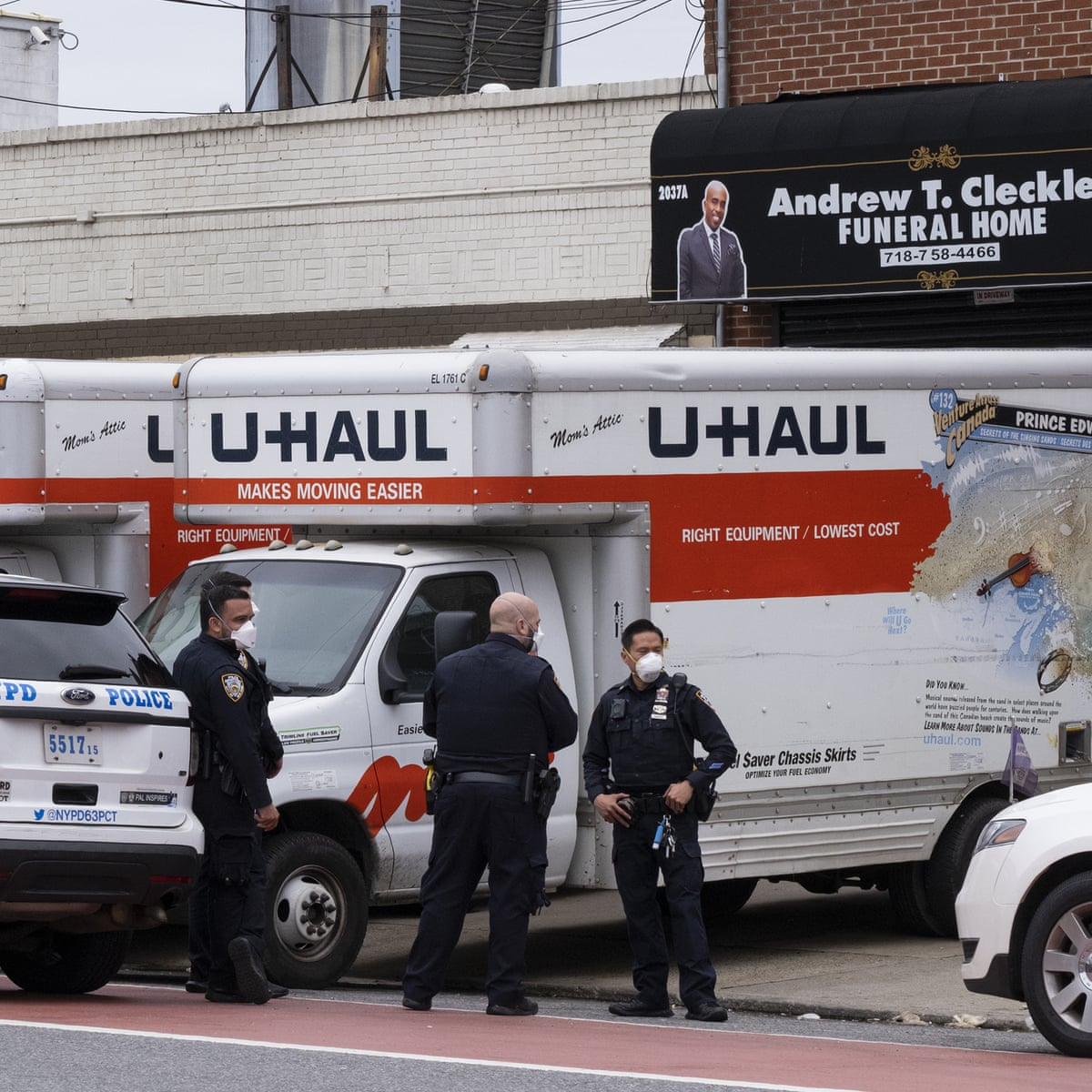 Police find bodies stored in rented trucks at overwhelmed New York funeral  home | Coronavirus | The Guardian