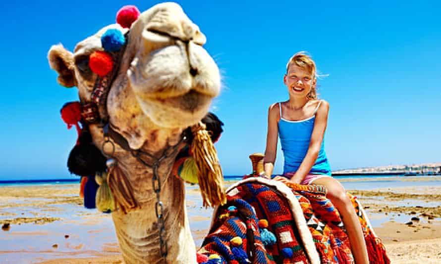 Child on camel