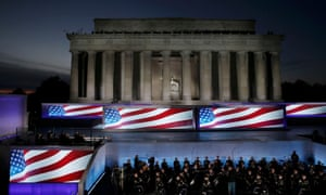 U.S. Army Band performs during Trump pre-inaugural rally at the Lincoln Memorial in Washington