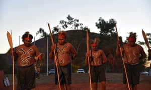 Dancers at the constitutional convention near Uluru last year