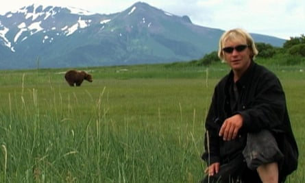 Bad news bear… Timothy Treadwell tempts fate in Grizzly Man.