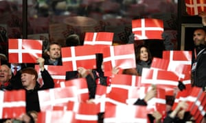 Crown Prince Frederik and Crown Princess Mary are among the expectant crowd in Copenhagen.