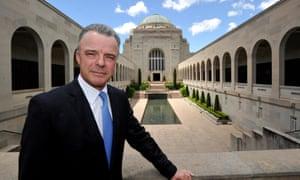 Australian War Memorial director Dr Brendan Nelson poses at the memorial in Canberra