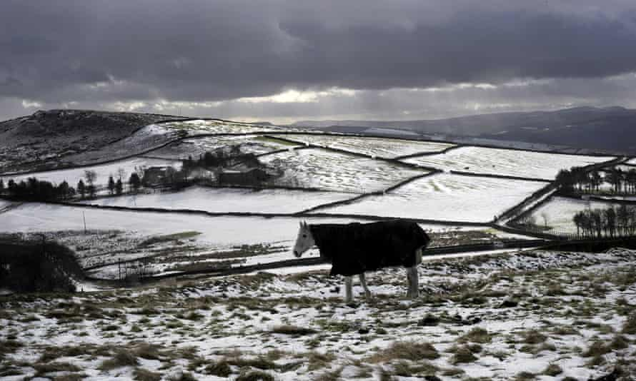 Snowy conditions in the Peak District