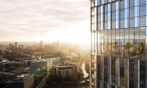 Sunshine on Leeds … an architect's impression of the view from proposed luxury tower Two Springwell Gardens.