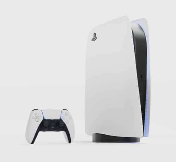 A bit of all white … the new PlayStation 5.