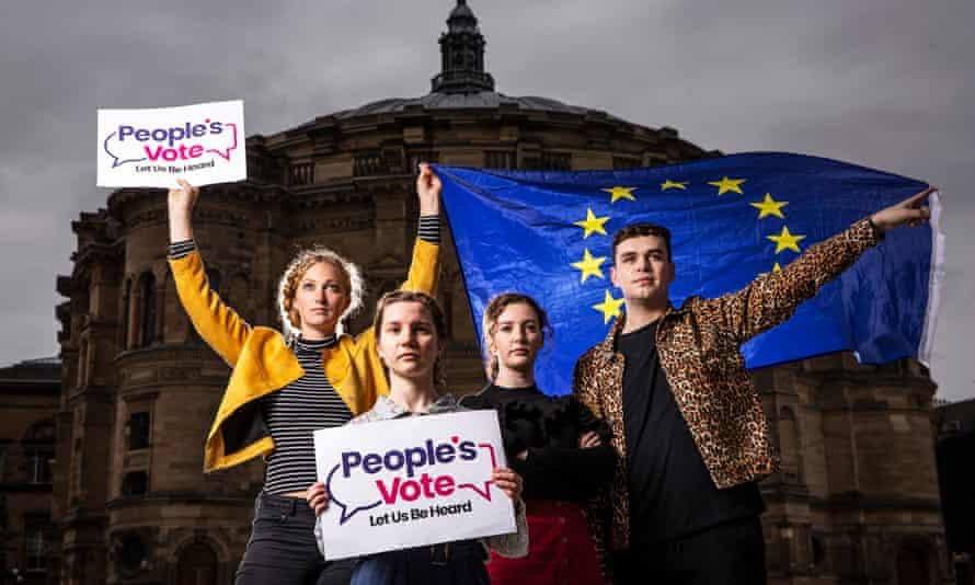Edinburgh University students campaigning for a second referendum.