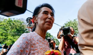 Aung San Suu Kyi on the day after Myanmar's election.