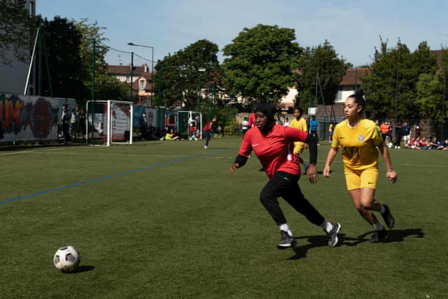 Mama playing in a match at the Women's Urban Cup