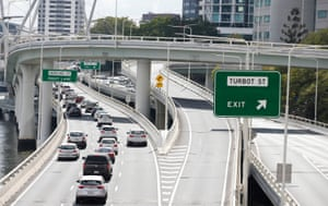 Riverside Expressway is seen in Brisbane.