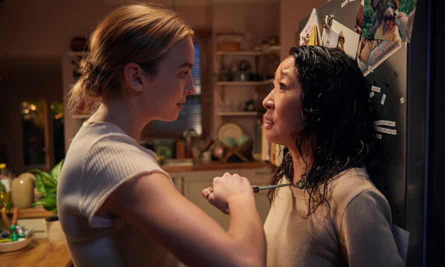 Jodie Comer with Sandra Oh, Killing Eve's eponymous lead.