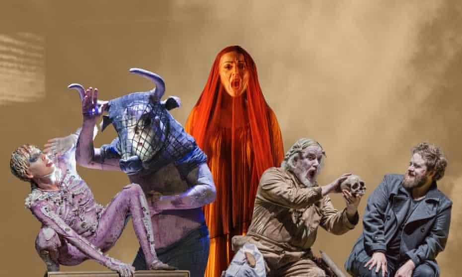 From left: The Tempest, The Minotaur, L'amour de loin, Hamlet