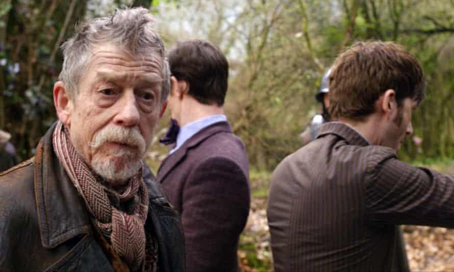 "John Hurt: a ""proper"" Doctor."