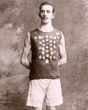 """Peter O'Connor protested his second place in the 1906 Olympics long jump by climbing a flagpole and raising a flag saying """"Erin Go Bragh"""" – Ireland for ever."""