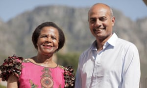 Former South African politician Dr Mamphela Ramphele with George Alagiah.