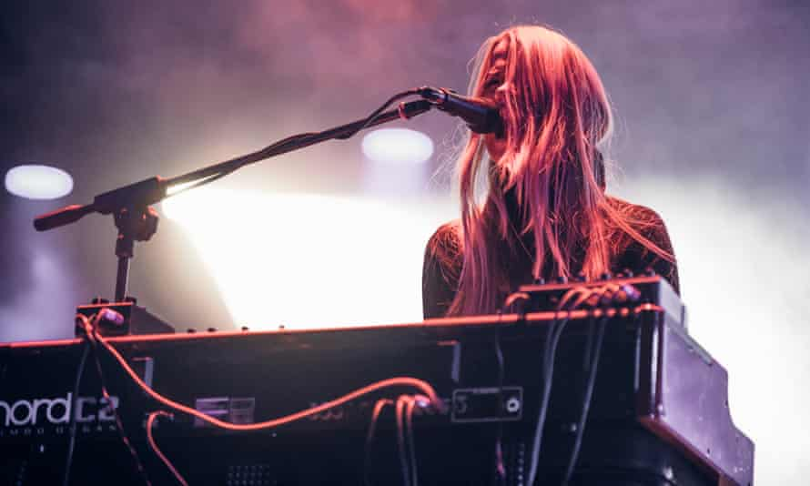 Organ obsessive ... Anna von Hausswolff performing live at Club to Club festival in Turin, in 2016.