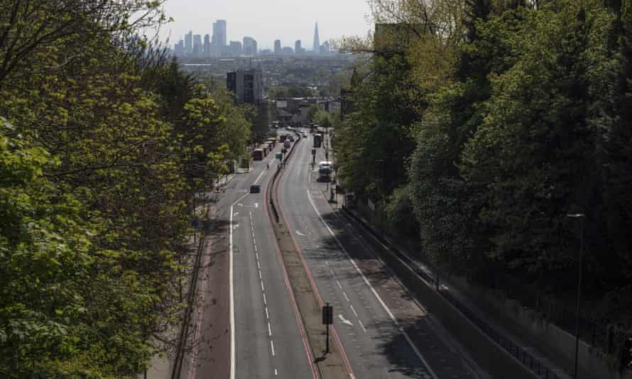 A near-empty A1 in north London