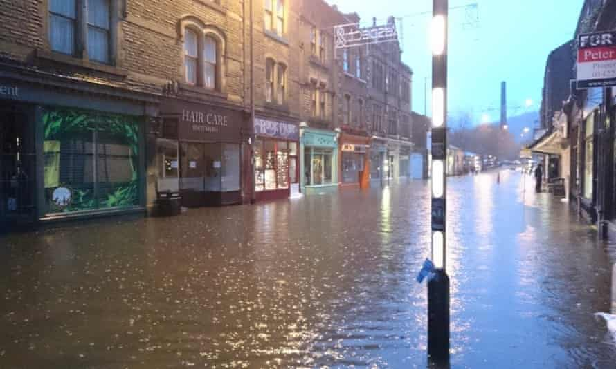 The Book Case in Hebden Bridge is among the businesses badly damaged by the floods