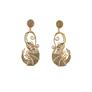 Opulent-looking but quirky, these are made from recycled metal Gold prawns, £34.99, hm.com