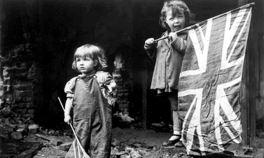 Young children celebrating VE Day in 1945.