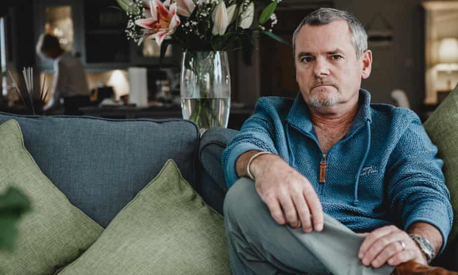 Joe Simpson photographed at home in Chesterfield by Sam Riley.