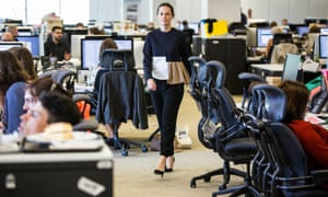 Imogen Fox in heels at the Guardian's London offices
