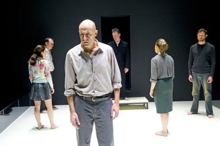 Mark Strong, centre, in A View from the Bridge.