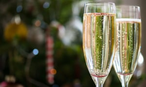 Champagne in flute glasses