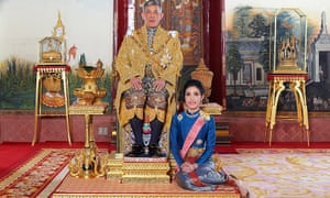 Thailand's king stripped his former consort, Sineenat Wongvajirapakdi, of her duties this week.