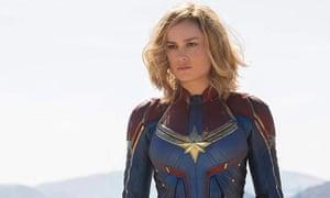 Skrull-crusher … Brie Larson as Captain Marvel.