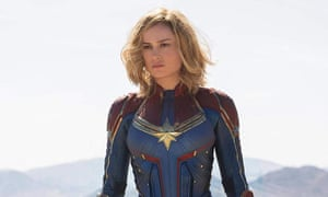 Acting with impunity … Brie Larson in Captain Marvel.