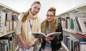 Great Yarmouth College students Amy Kelly and Jemma Coe.