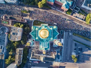 Aerial view of Moscow mosque