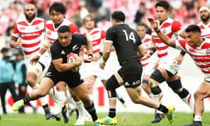 Ngani Laumape was dominant for the All Blacks in Tokyo.