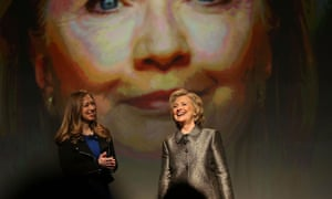 Hillary Clinton and her daughter, Chelsea