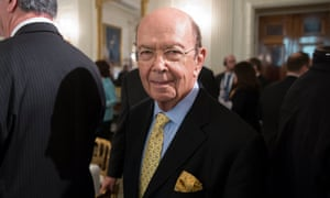 Wilbur Ross arrives for a meeting with Trump at the White House in Washington DC on 23 February 2017.