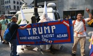 trump racist protesters