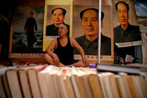 A vendor of books and souvenirs in Beijing