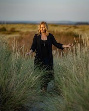Kate Winslet shot on the English coast